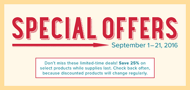 September 2016 Stampin' Up! Special Offers