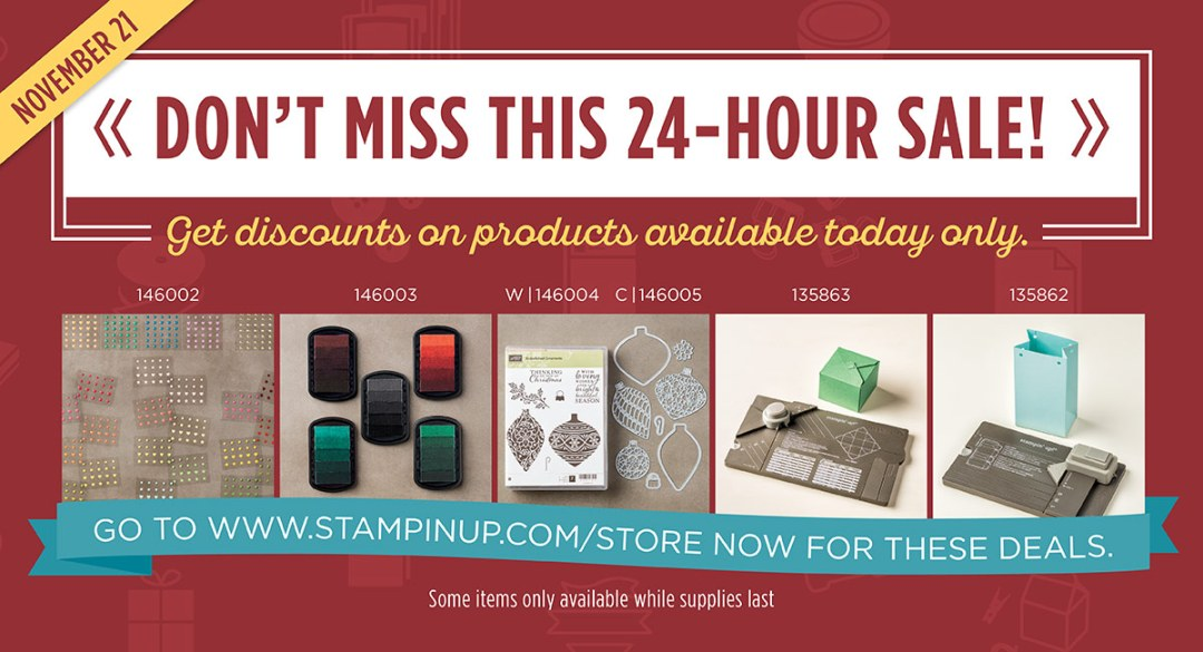 stampin' up! online extravaganza 24 hour sale