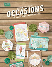 2017 Occasions catalog from Stampin' Up!
