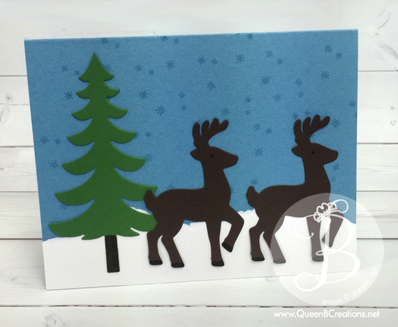Stampin' Up! Santa's Sleigh Winter Wonderland card made by Queen B Creations