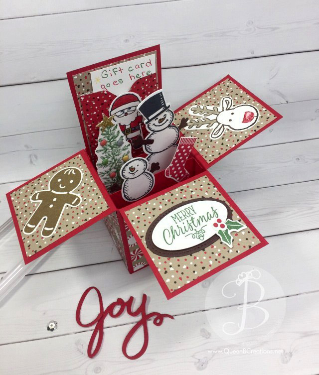 Stampin' Up! Cookie Cutter Christmas gift card in a box