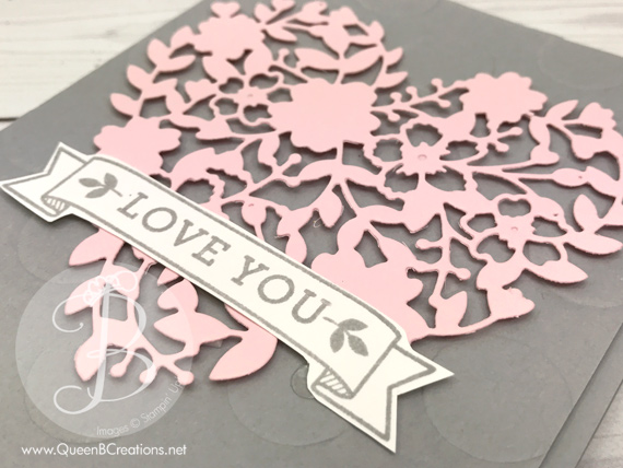 stampin' up! bloomin love valentines day love you card made by Queen B Creations
