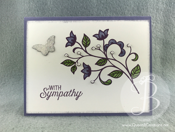 Stampin' Up! Flourishing Phrases Sympathy Card by Queen B Creations