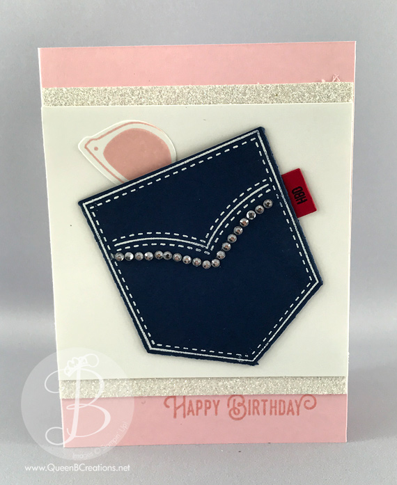 Stampin' Up! pocket full of sunshine happy birthday card by Queen B Creations
