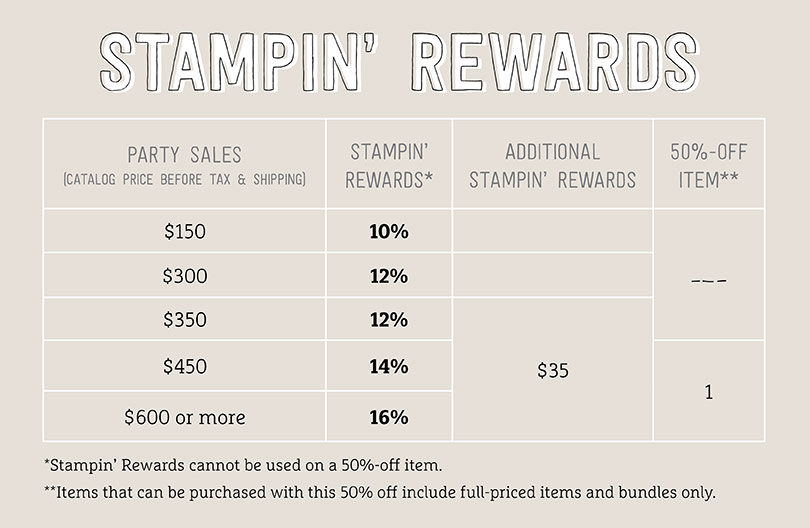 Stampin' Up! We love hosts promotion graphic