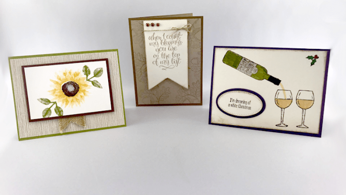 using new items from the 2017 Stampin' Up! Holiday Catalog