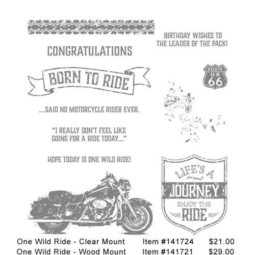 Stampin' Up! One Wild Ride Stamp Set
