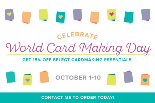stampin' up world card making day sale