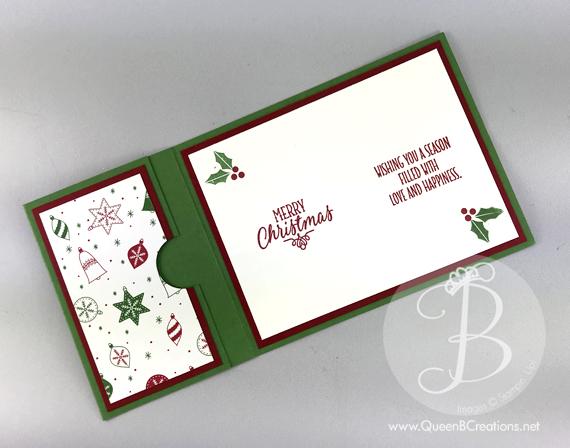 Gift card holder christmas card queen b creations christmas stocking gift card holder stampin up handmade card by lisa ann bernard of queen negle Gallery