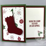 Christmas stocking gift card holder Stampin