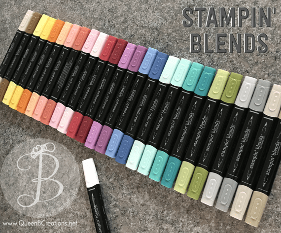 stampin' Up! stampin' blends coloring alcohol markers new product queen b creations