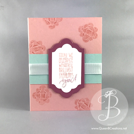 Stampin 'Up! picture perfect birthday card by Lisa Ann Bernard of Queen B Creations