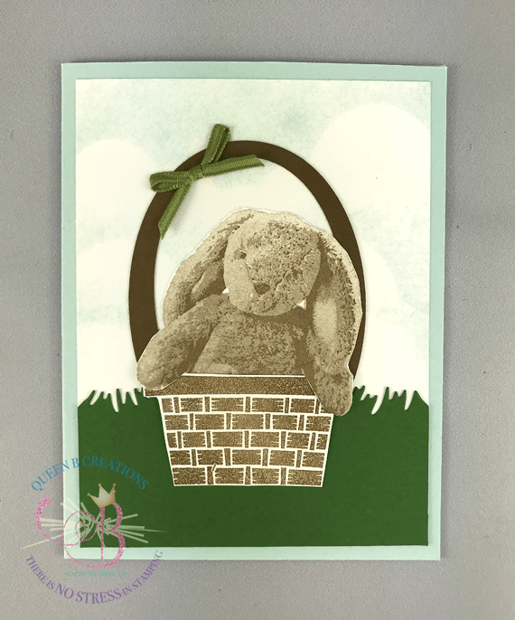 Stampin' Up! Somebunny Loves You and Picnic With You handmade Easter card by Lisa Ann Bernard of Queen B Creations
