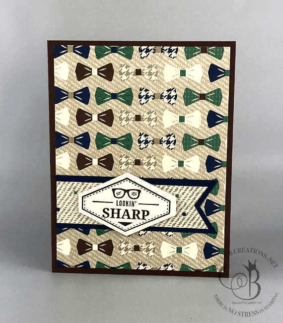 Stampin' Up! Truly Tailored stamp set with True Gentleman DSP by Lisa Ann Bernard of Queen B Creations