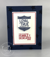Loyal & True Military Thank You Card