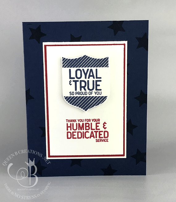 STampin' Up! Loyal and True handmade military thank you card with soldier by Lisa Ann Bernard of Queen B Creations