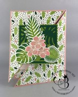 Tropical Chic Diagonal Gate Fold Card