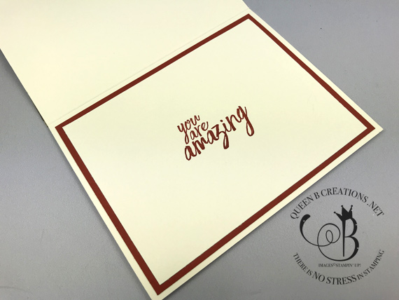 Stampin' Up! Layering Alphabet dies handmade thank you / thanks card by Lisa Ann Bernard of Queen B Creations