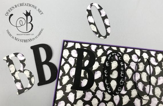 Toil & Trouble Eclipse Technique BOO Halloween card by Lisa Ann Bernard of Queen B Creations