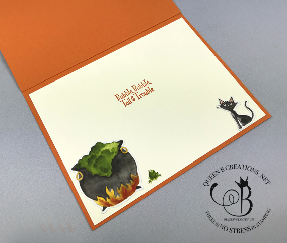Toil & Trouble Eclipse Technique EEK Halloween card by Lisa Ann Bernard of Queen B Creations