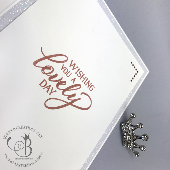 Stampin' Up! Forever Lovely Sparkle and Shine Glimmer Paper card by Lisa Ann Bernard of Queen B Creations