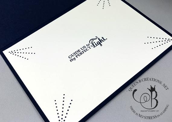 Stampin' Up! Star of Light handmade Christmas card by Lisa Ann Bernard of Queen B Creations