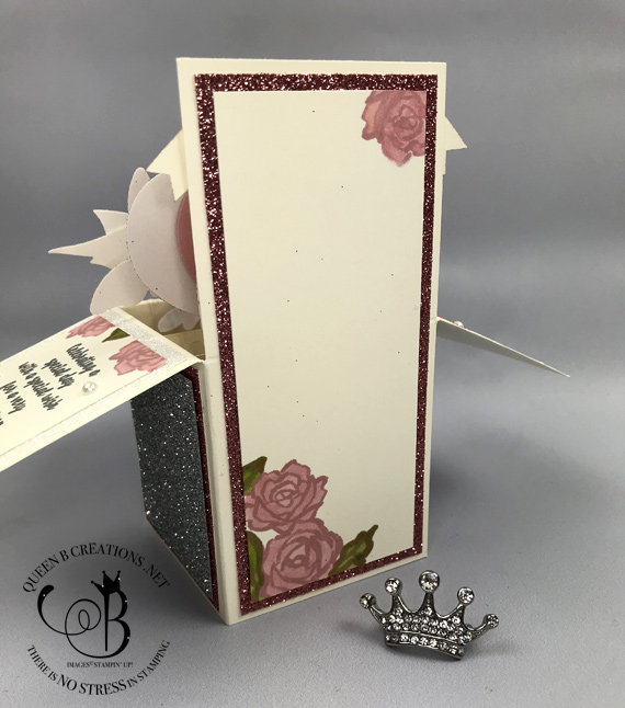 Stamipn' Up! Card in a Box 100th birthday card by Lisa Ann Bernard of Queen B Creations