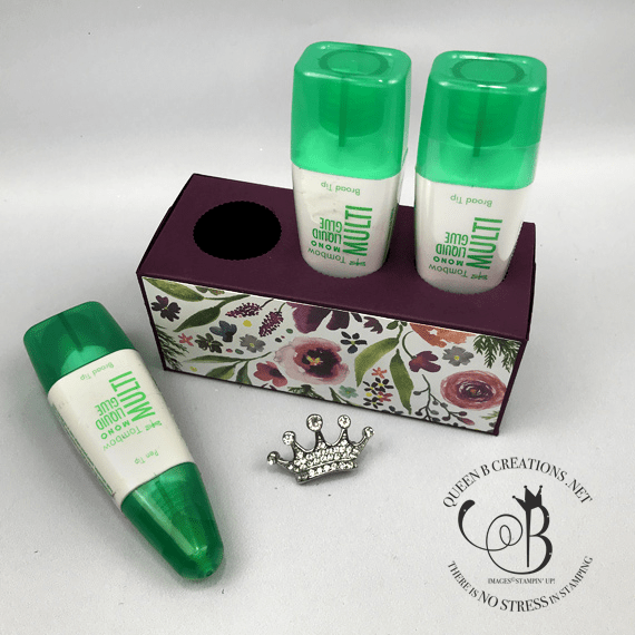 Stampin' Up! Tombow Liquid Glue Holder by Lisa Ann Bernard of Queen B Creations