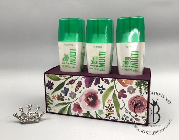 Stampin' Up! Tombow Liquid Glue Holder by Lisa Ann Bernard of Queen B Creations
