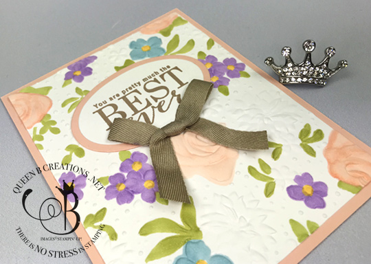 Stampin' Up! Country Floral TIEF colored with Stampin' Blends handmade card by Lisa Ann Bernard of Queen B Creations