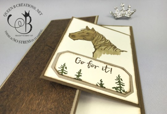 Stampin' Up! Let It Ride fun fold encouragement card by Lisa Ann Bernard of Queen B Creations