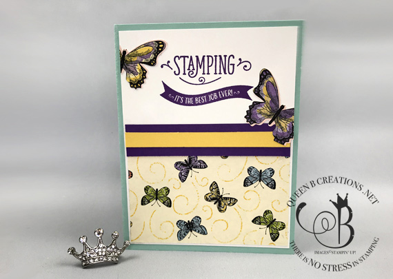 Stampin' Up! Stamping Your Way To The Top demonstrator stamp set waas used to make these welcome to the team cards by Lisa Ann Bernard of Queen B Creations