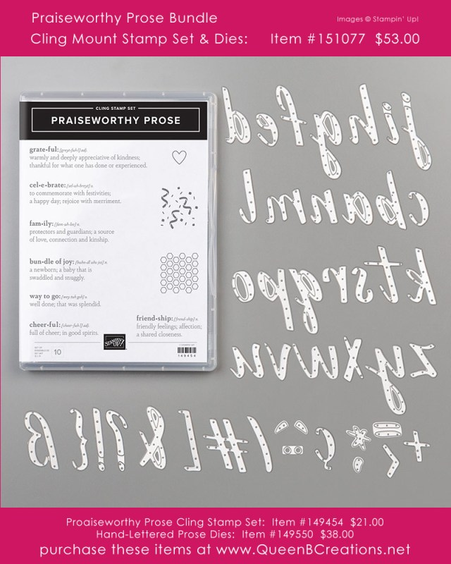 Stampin' Up! Praiseworthy Prose bundle from the 2019-2020 Annual Catalog