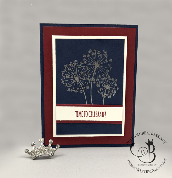 Stampin' Up! Dandelion Wishes Patriotic fireworks, 4th of July card handmade by Lisa Ann Bernard of Queen B Creations
