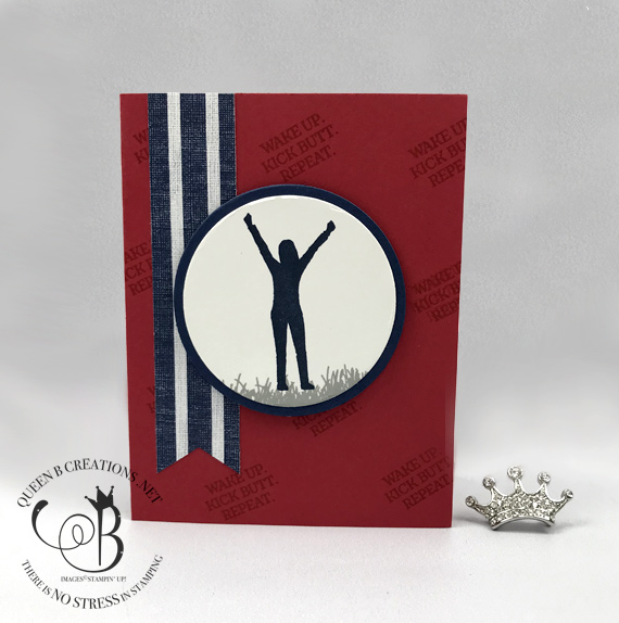 Stampin' Up! Enjoy Life, Red, White and Blue Victory card handmade by Lisa Ann Bernard of Queen B Creations