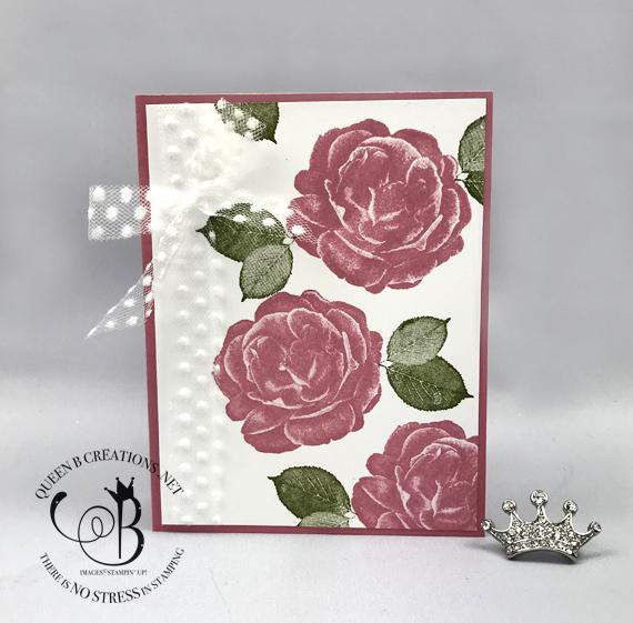STampin' Up! Healing Hugs Rococo Rose handmade get well card by Lisa Ann Bernard of Queen B Creations