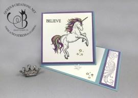 Sparkle Unicorn Side Easel Card