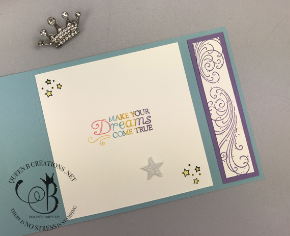 Stampin' Up! Leave A Little Sparkle Unicorn Easel Card by Lisa Ann Bernard of Queen B Creations