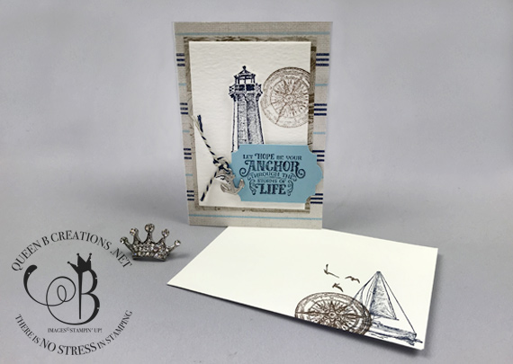 Stampin' Up! handmade notecard from OnStage Stampin' Up! event using the Sailing Home Bundle by Lisa Ann Bernard of Queen B Creations