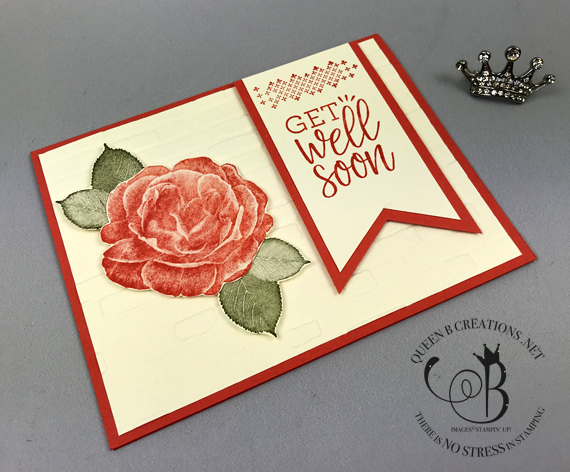 Stampin' Up! Healing Hugs Brick & Mortar embossing handmade get well card by Lisa Ann Bernard of Queen B Creations