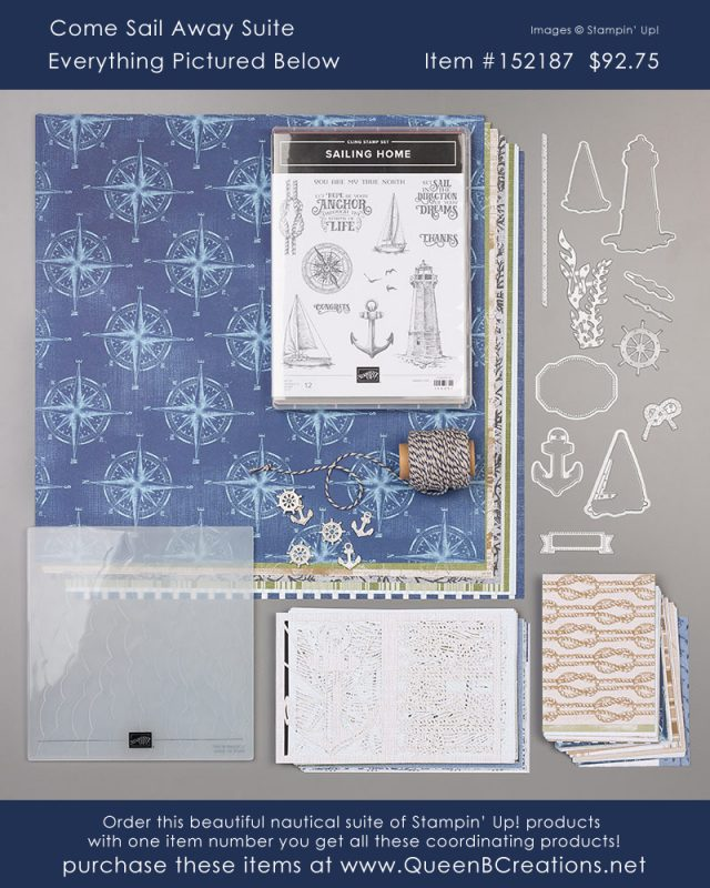 Stampin' Up! Come Sail Away Suite masculine / nautical rubber stamping products