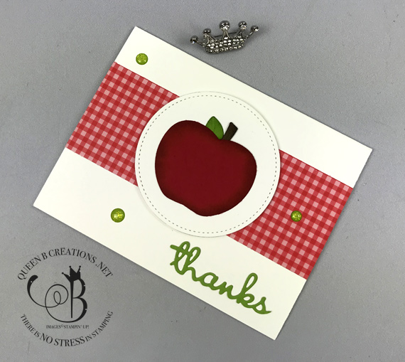 Stampin' Up! Harvest Hellos bundle Well Written dies Teacher thank you card by Lisa Ann Bernard of Queen B Creations
