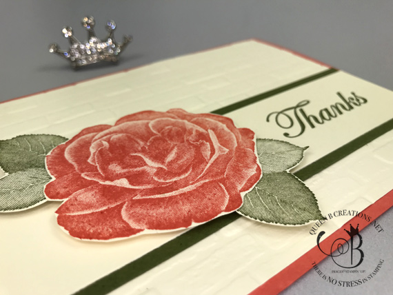 Stampin' Up! Healing Hugs Thank You Card by Lisa Ann Bernard of Queen B Creations