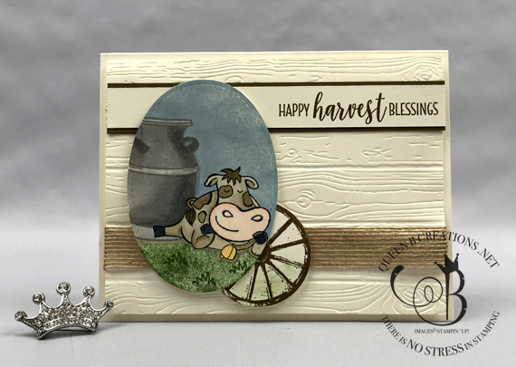 Stampin' Up! Over The Moon Country Home fall / autumn card by Lisa Ann Bernard of Queen B Creations #icsbloghop
