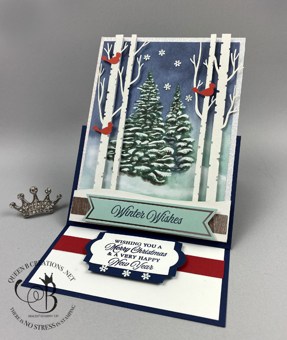 Stampin' Up! Paper Pumpkin Winter Woods October 2019 alternative by Lisa Ann Bernard of Queen B Creations