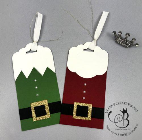 Stampin' Up! Santa and Elf Christmas Tags