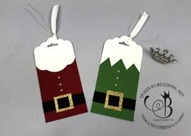 Santa & Elf Christmas Tags