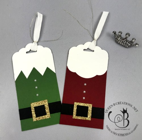 Stampin' Up! Santa and Elf Christmas Tags