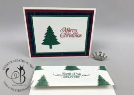 Perfectly Plaid Christmas Card