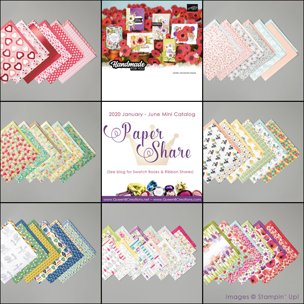 2020 Jan-Jun Mini Catalog Paper Share by Lisa Ann Bernard of Queen B Creations